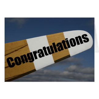 Congratulations on your First Solo Flight Pilot Card
