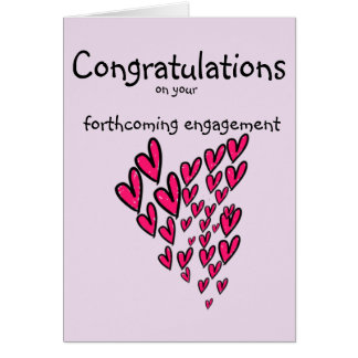 Congratulations on your forthcoming engagement car card