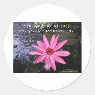 CONGRATULATIONS ON YOUR GRADUATION CLASSIC ROUND STICKER