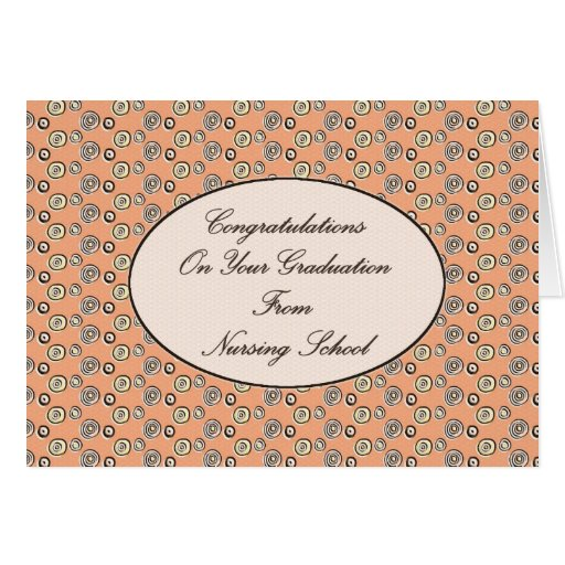 Congratulations on your Graduation From Nursing Sc Greeting Card