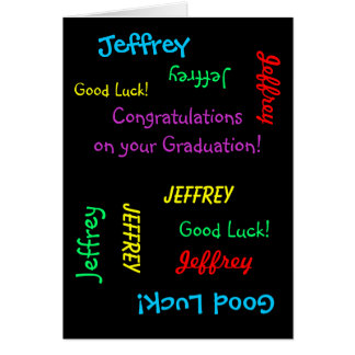 Congratulations on your Graduation Greeting Card