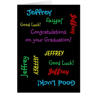 Congratulations on your Graduation, Greeting Card