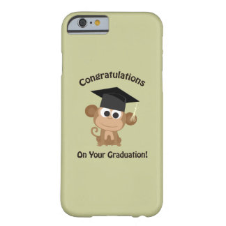 congratulations on your graduation monkey barely there iPhone 6 case
