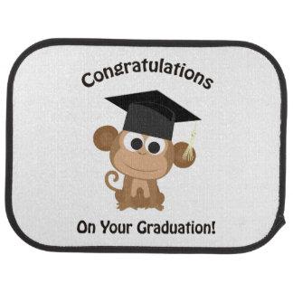 congratulations on your graduation monkey car floor mat