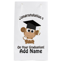 congratulations on your graduation monkey small gift bag