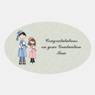 Congratulations on your graduation oval sticker