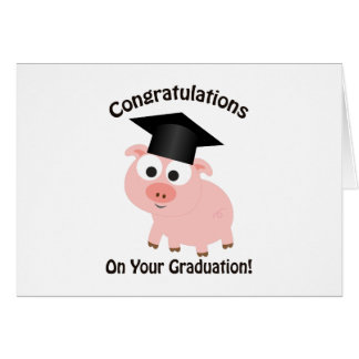 Congratulations on your Graduation! Pig Stationery Note Card