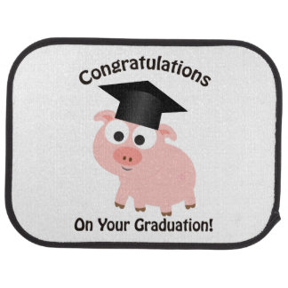 Congratulations on Your Graduation! Pig Floor Mat
