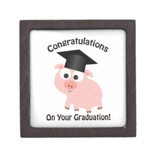Congratulations on Your Graduation! Pig Keepsake Box