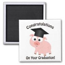 Congratulations on Your Graduation! Pig Magnet