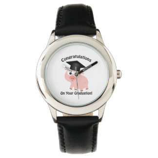 Congratulations on your Graduation! Pig Wristwatch
