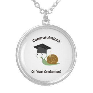 Congratulations on Your Graduation Snail Silver Plated Necklace