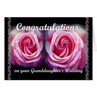 Congratulations On Your Granddaughter's Wedding Greeting Card