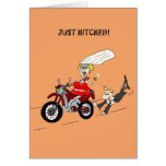 CONGRATULATIONS ON YOUR MARRAIGE FUNNY GROOM BIKER GREETING CARD