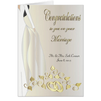 Congratulations On Your Marriage Cards