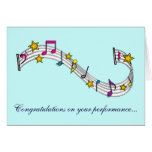 Congratulations on Your Music Performance Cards