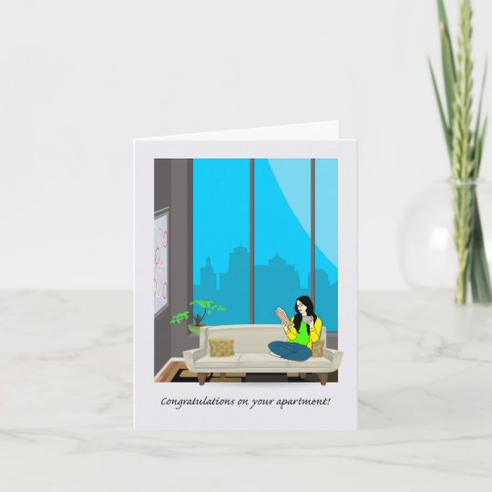Congratulations On Your New Apartment City View Card