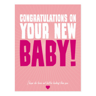 Congratulations on Your New Baby (female) Postcard