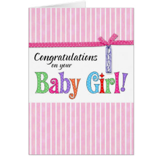 congratulations on your new baby girl cards