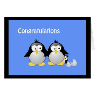 Congratulations on Your New Baby Penguin Greeting Cards