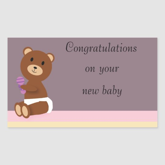 Congratulations on Your New Baby Sticker
