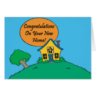 Congratulations Your New Home Cards Greeting Amp Zazzle