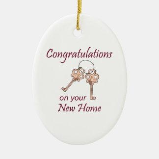 Congratulations On Your New Home Ceramic Ornament