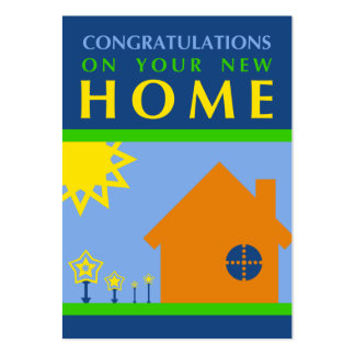 congratulations on your new home (crayola shapes) business card template