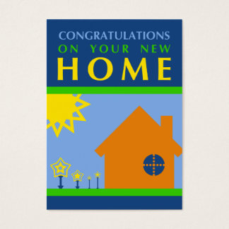 congratulations on your new home (crayola shapes) business card