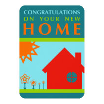 congratulations on your new home (crayola shapes) invitation