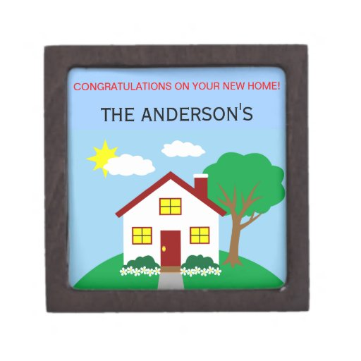 Congratulations On Your New Home Gift Box Zazzle