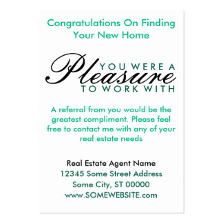congratulations on your new home (green shapes) business card template