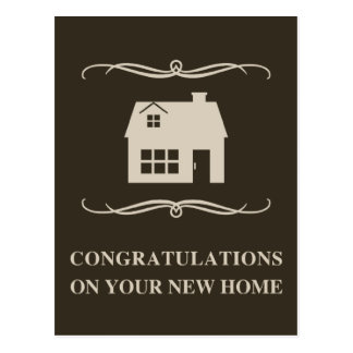 congratulations on your new home : mod home postcard