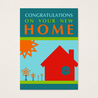 congratulations on your new home (mod shapes) business card