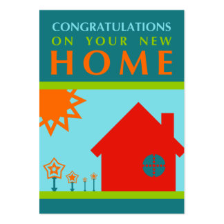 congratulations on your new home (mod shapes) large business card
