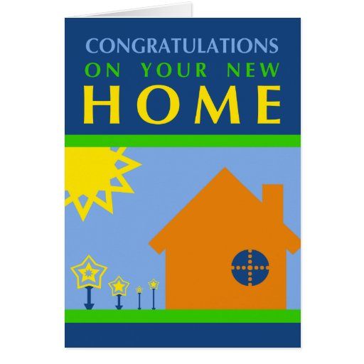 congratulations on your new home : pop shapes card