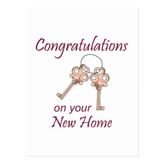 Congratulations On Your New Home Postcard