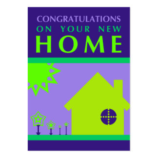 congratulations on your new home (purple shapes) business cards