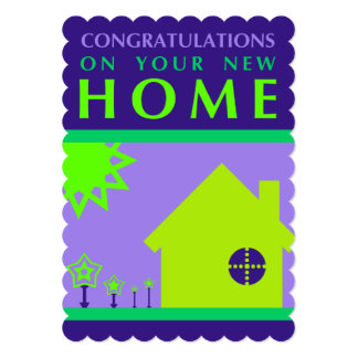 congratulations on your new home (purple shapes) card