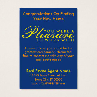 congratulations on your new home (sunset shapes) business card