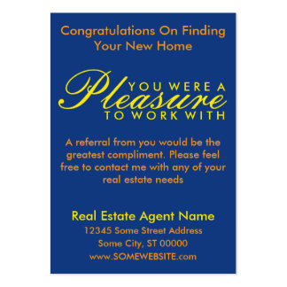 congratulations on your new home (sunset shapes) large business card