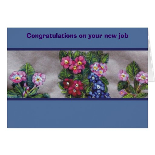 congratulations on your new job cards