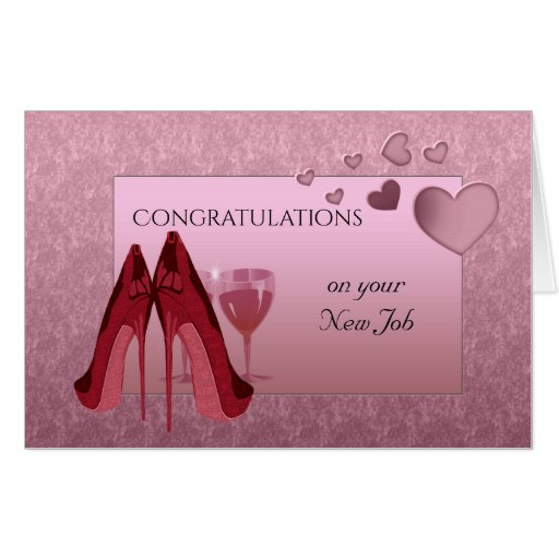 congratulations on your new job large card
