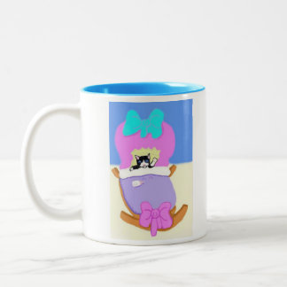 Congratulations On Your New Kitten, Blue Two-Tone Coffee Mug