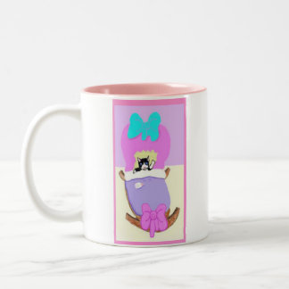 Congratulations On Your New Kitten, Pink Two-Tone Coffee Mug