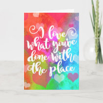 Congratulations on Your New Place Typography Card