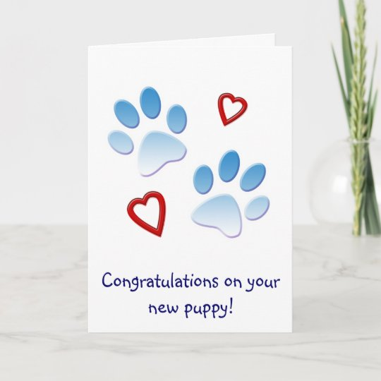 33aa57b0b9b Congratulations on Your New Puppy Card
