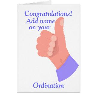 Congratulations on your Ordination customize Card