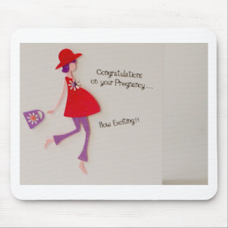 congratulations on your pregnancy! mouse pad