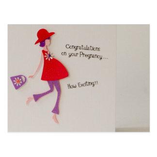 congratulations on your pregnancy! postcard